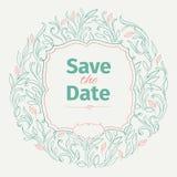 Convite do vintage para o casamento Imagem de Stock Royalty Free