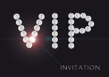 Convite do VIP Fotografia de Stock