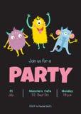 Convite dos monstro ilustração royalty free