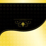 Convite dourado Imagem de Stock Royalty Free