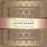 Convite dourado Imagem de Stock