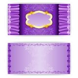 Convite elegante do luxo do molde do vetor Foto de Stock