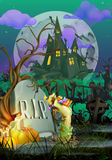 Convite feliz de Dia das Bruxas ilustração stock