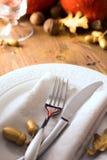 Convite feliz do jantar do dia da ação de graças da arte Fotografia de Stock Royalty Free
