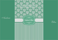 Convite floral Backgroud de turquesa e de prata Imagem de Stock Royalty Free