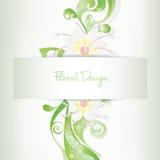 Convite floral do cartão do vetor, flores de florescência Imagens de Stock Royalty Free