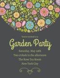 Convite floral dois da mola Fotos de Stock