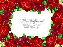 Convite floral romântico Fotografia de Stock Royalty Free