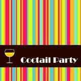 Convite Funky Foto de Stock Royalty Free