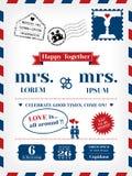 Convite lésbica do casamento ilustração royalty free