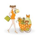 Convite novo do chuveiro de bebê com pretendente grávido Imagens de Stock Royalty Free