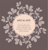 Convite ou cartão do casamento com elementos florais Foto de Stock Royalty Free