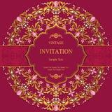 Convite ou cartão do casamento com fundo abstrato Fotos de Stock Royalty Free