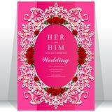 Convite ou cartão do casamento com fundo abstrato Imagens de Stock
