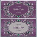 Convite ou cartão do casamento com fundo abstrato Fotografia de Stock