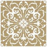 Convite ou cartão do molde com o ornamento da flor para o corte do laser e do plotador Ilustração do vetor Imagens de Stock Royalty Free