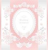 Convite ou felicitações do casamento com pérolas f Fotos de Stock Royalty Free