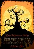 Convite ou fundo do partido de Halloween Foto de Stock