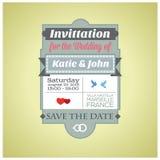 Convite para o casamento ilustração stock