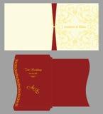 Convite quadrado floral com envelope Fotos de Stock Royalty Free