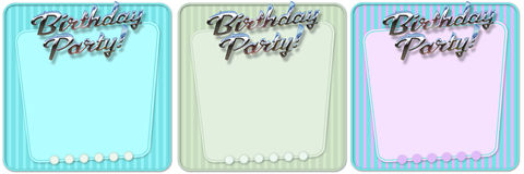 Convite retro da festa de anos Foto de Stock