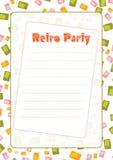 Convite retro do partido Ilustração Stock