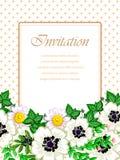 Convite romântico Imagens de Stock Royalty Free
