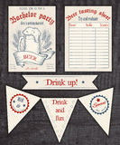 Convite tirado mão do vintage do vetor, provando Imagem de Stock