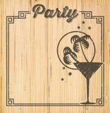 Convite tropical do cocktail ilustração royalty free