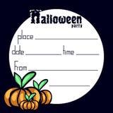 Convite a um partido de Halloween Fotografia de Stock Royalty Free