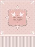 Convites do projeto ao casamento Foto de Stock