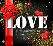 Convites felizes do molde ou do projeto do cartaz do cartão ou do inseto do dia do ` s do Valentim ilustração stock