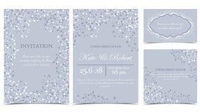 Convites florais do vetor Fotos de Stock Royalty Free