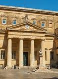 Convitto Palmieri med bysten av Giosue Carducci Lecce Puglia Royaltyfria Foton