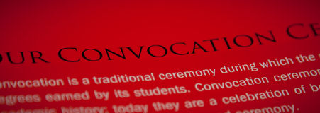 Convocation Stock Images