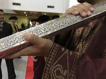 Convocation ceremony at university Stock Image