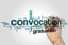 Convocation word cloud concept on grey background Stock Photography