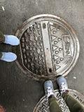 Convogli il cappuccio nel distretto di Wanhua, Taiwan, Cina immagine stock libera da diritti