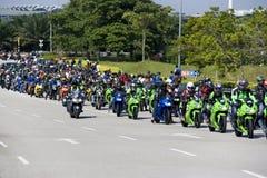 Convoglio del motociclista di Motogp Fotografie Stock Libere da Diritti