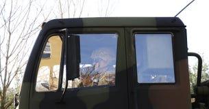 Convoglio dell'esercito americano, 27 3 2016, repubblica Ceca, attraversante in Polonia da vecchio Boleslav, Immagini Stock
