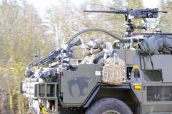 Convoglio dell'esercito americano, 27 3 2016, repubblica Ceca, attraversante in Polonia da vecchio Boleslav, Fotografie Stock