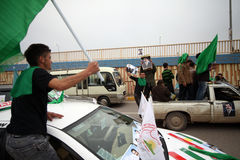 Convoi de campagne d'élection en Irak Photos libres de droits