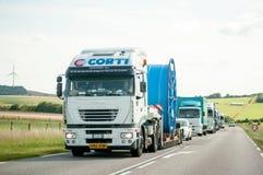 Convoi Exceptionnel - speciale Transpor Fotografia Stock Libera da Diritti