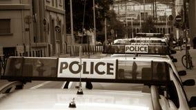 Convoy,. Police convoy,police-officer, control , car Stock Photos