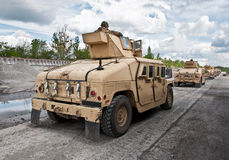 Convoy of armored vehicle Ukrainian army Royalty Free Stock Photo