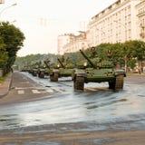 Convoy de los tanques Imagenes de archivo