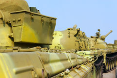 Convoy of military tanks Stock Photo