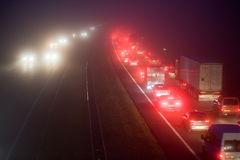 Convoy in the mist Royalty Free Stock Photography