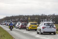 Convoy of Technical Cars - Paris-Nice 2018 royalty free stock photos
