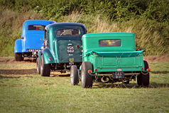convoy of vintage cars Royalty Free Stock Images